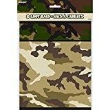 Unique Party - 48533 - Paquet de 8 Pochettes - Cadeau Camouflage Militaire