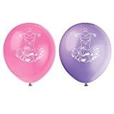 Unique Party - 49495 - Paquet de 8 Ballons Ballerine en Latex - Rose - 30 Cm