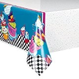 Unique Party - 49503 - Nappe en Plastique - Tea Party - Chapelier Fou - 213 cm x 137 cm