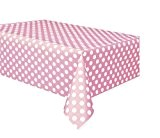 Unique Party - 50259 - Nappe - Plastique à Pois - 2,74 x 1,37 m - Rose Pastel