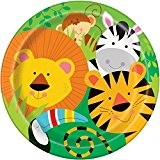 "Unique Party 52085 Assiette ""Jungle Party Animal 23 cm (Lot de 8)"