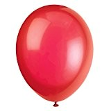 Unique Party - 56840 - Paquet de 50 Ballons - Latex - 30 cm - Rouge Écarlate
