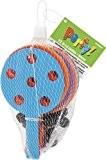 Unique Party - 74056 - Paquet de 12 Raquettes à Trous avec Balle Reliée pour Pochettes - Cadeau