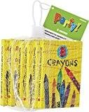 Unique Party - 74060 - Paquet de 6 Crayons de Cire pour Pochettes - Cadeau