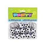 Unique Party - 86925 - Paquet de 12 Porte-Clés - Ballon de Football pour Pochettes - Cadeau