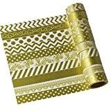UOOOM Lot de 10 ruban adhésif Washi Tape Ruban adhésif de masquage décoratif scrapbooking cadeau DIY Craft