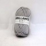 UTE - Pelote de laine à tricoter BRILLANCE - OKE ! - Gris 408