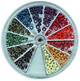 Vaessen Creative 10824/04 Kit d'œillets de 12 Couleurs Métal Multicolore 10 x 10 x 1,2 cm
