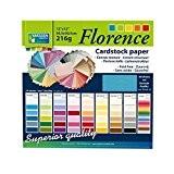 Vaessen Creative 1214-61 Set de 60 Feuilles de Papier Cartonné Multicolore 30,5 x 30,5 x 1 cm