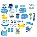 Veewon bébé douche Party Photo Booth accessoires Kits sur bâtonnets - It's a Boy 30 pièces