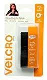 Velcro (R) marque Attaches dos adhésif pour tissus?: Aucune couture nécessaire-61cm x 3/4ruban adhésif-Noir