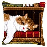 Vervaco, Kit Coussin Point De Croix, Chat Endormi, Multi-Couleurs