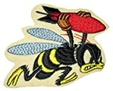 Vintage 21st Bomber Squadron 1942 Bomber Jacket Bee Collectible Patch Écusson Patch Thermocollant