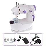 Vinteky® Mini machine à coudre occasion bureau offre point de couture, soignées et droitesde fil double portable facile à utiliser