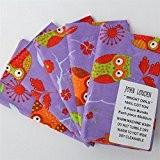 Violet Coffret Cadeau de patchwork Chouettes Bright fanions 100% coton Fat Quarter Bundle