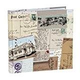 vo1664si Voyages Toile Album pour 160photos 4x 6(11x 15cm) Album photo avec pages en papier avec deux sections Photo Pochette ...