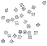 Vogholic Clear Rubber Bullet Clutch Earring Safety Backs Ear Nuts Earring Keepers for Fish Hook Earrings (About 100pcs) by Vogholic