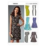 Vogue Patterns 9050 42 tailles 14/16/18/20/22 Patrons de robes pour femme Multicolore