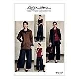 Vogue Patterns 9217ZZ Patrons pour femme/Patrons haut et pantalon pour femme couture réversible, soie, multicolore, tailles grand-2x L