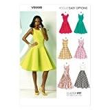 Vogue Patterns V8998 Patrons de couture de robes pour femme Multicolore Taille 44 à 52