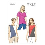Vogue Patterns V9004 Patrons de couture de hauts pour femme Multicolore Taille 36 à 44