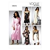 Vogue Patterns V9015 Patrons de couture de déshabillés et nuisettes pour femme Multicolore Taille 44 à 52