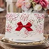 VStoy Kits Invitations Laser Cut Mariage Cartes Colorful Dentelle Fleur style Invitation bristol pour le mariage Party Favors Supplies avec ...