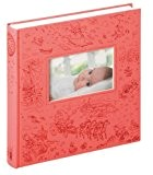 Walther uK - 164-r album photo bébé fairyland imprimé lin 28 x 30,5 cm 60 pages (rose)