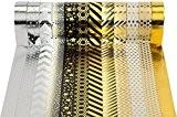 Washi Tape Masking Noel Fete Cadeau Tape Lot de 12 Noir/doré pour scrapbooking DIY (par rouleau de 15 mm x ...