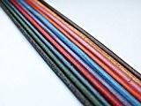 Waso-HobbyLot de 10 lanières en cuir de différentes couleursØ 2mm100cm