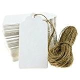WINOMO 100pcs Kraft Tags papier cadeau carte mariage faveur Tag prix étiquette bagage Tag vide 90 * 45mm