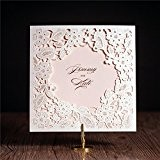 Wishmade CW5197 Pochette découpée au laser pour cartes d'invitation mariage, enterrement de vie de jeune fille, baby shower, cartes de ...