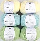 Woll Kit bébé laine RICO BABY CLASSIC 6x 50g # 15, coton doux pour le tricot et crochet