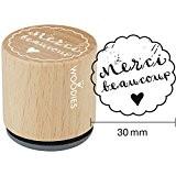 Woodies monté Tampon en caoutchouc 1.35-inch Merci beaucoup, acrylique, multicolore, 3pièces