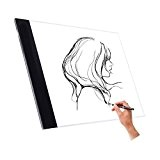 Wuiyepo A4 Tracing Light Box LED Artiste Tatouage tableau de dessin Artiste Dessin Tatouage Drafting Graphics Tablet Lumière Pad Board ...