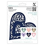 Xcut (Docrafts) Folk Bird Cœur en métal de découpe (6PCS) carte papier craft