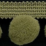 XL Pom Pom frange Garniture Bobble galon - Taille XL 2 cm (2 cm) Best Qualité. (par mètre) Olive # C