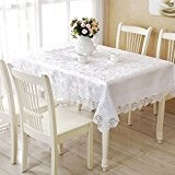 XMMLL Tissus dentelle lin blanc Continental Capot de la table le linge de table Nappe en partie couvert moderne et ...