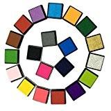 Yalulu 20 Couleurs lavable Artisanat Encreurs pour Caoutchouc Stamps carte de Fabrication