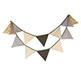 Yalulu Bannière Vintage formée de fanions triangulaires en tissu multicolore pour fêtes d'anniversaire/cérémonie/cuisine/chambre longueur 3.2 m