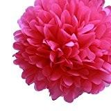 """YARBAR 10 """"(3) partie fête rose mini baby shower de papier - tissu pom - poms fleurs - boîte de ..."""