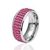 YTB La Haute Qualitynickle Antiallergique Bijoux K Véritable Libre Plaqué Or Bague Pour Femmes ,rose,8