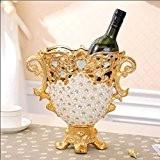 Yuyuan Euro Table de salon Ornements Vin Cabinet Meuble TV Décorations Fleur de vase en céramique Crafts Creative cadeaux, B