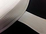 Yuzet 100m x 50mm de large en polypropylène Blanc Sangle en toile Sangle Web