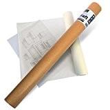 ZCE Schéma Transparent Rouleau-20ou 40g/m², 50m ou 100m long-33cm ou 61cm de large-Sans Acide mydraft Schéma rôle 40g/qm 50 m ...