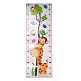 1Hauteur tableau de croissance mesure en Sticker mural pour enfants Cartoon PVC amovible Art Mural enfants