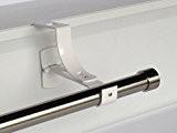 1 support sans perçage GEKO pour tringle à rideaux diamètre 28 mm - Spécial caisson de volet roulant à rainure ...