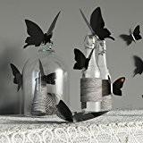 12 Stickers autocollant mural chambre papillon 3D Noir en relief Nouveauté VENDEUR FRANCAIS
