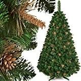180 cm PREMIUM Sapin de noel arbre de noel artificiel DORE PIN