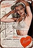 1952Soutiens-gorge d'Adorable Moiré Look Vintage Reproduction Plaque en métal 20,3x 30,5cm
